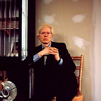 Warhol in his Union Square 'Factory' in 1974.  Taken with a 35 mm Nikon FM.