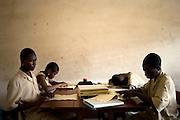 February 2008 - The School takes 80 blind students surrounding villages and at no cost to their families teaches them geography, science, math and a work for the future. Though the school belongs to the state, it receives considerable funding from ONG.