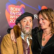 NLD/Amsterdam/20170324 - Boekenbal 2017, Ilja Gort en vriendin