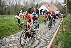 Riejanne Markus (NED) at Omloop Het Nieuwsblad - Elite Women 2019, a 122.9 km road race from Gent to Ninove, Belgium on March 2, 2019. Photo by Sean Robinson/velofocus.com