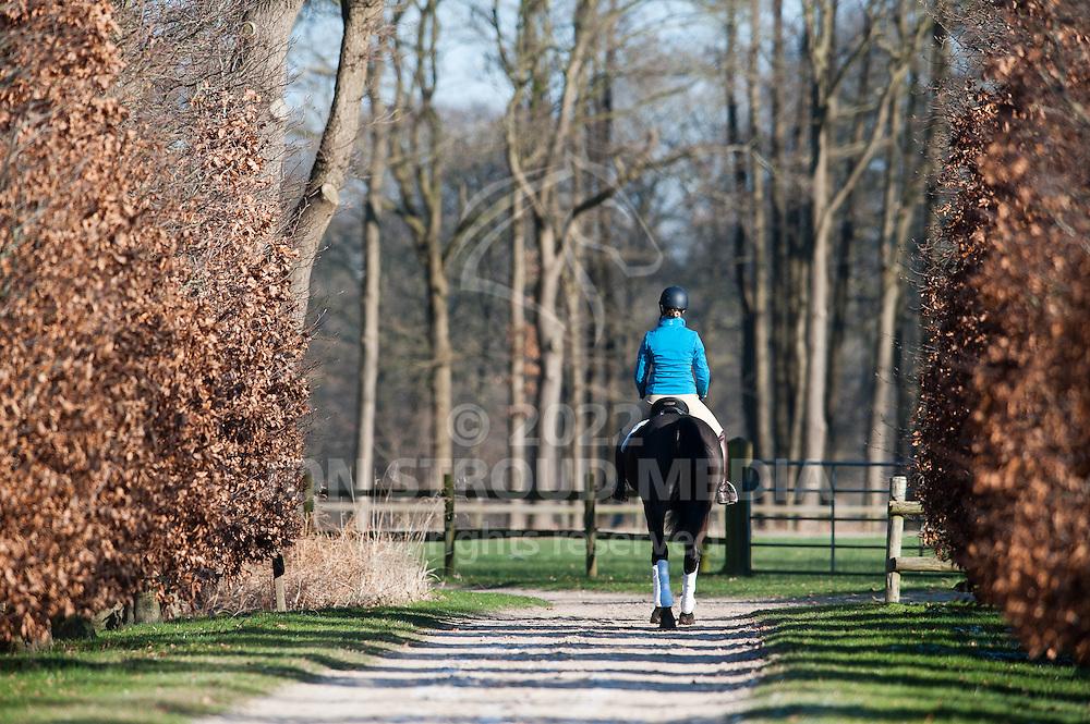 Adelinde Cornelissen rides Tiara - Adelinde Cornelissen Feature Shoot - Landgoed Balkenschoten, Nijkerk, Netherlands - 02 February 2012