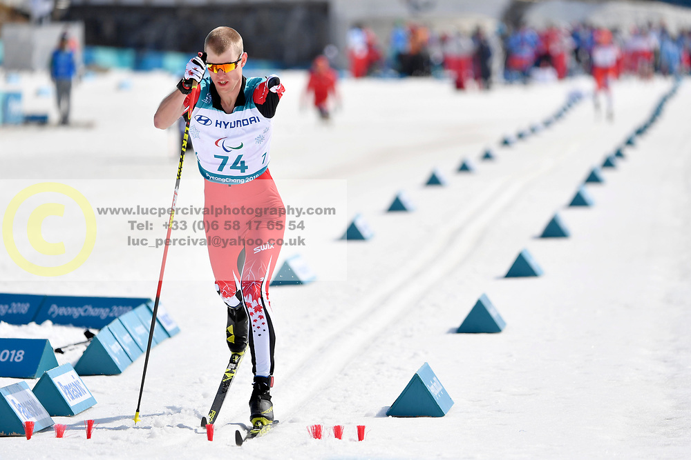 ARENDZ Mark CAN LW6 competing in the ParaSkiDeFond, Para Nordic Skiing, Sprint at  the PyeongChang2018 Winter Paralympic Games, South Korea.