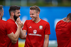 LOS ANGELES, USA - Saturday, May 26, 2018: Wales' Chris Gunter during a training session at the UCLA Drake Track and Field Stadium ahead of the International friendly match against Mexico. (Pic by David Rawcliffe/Propaganda)