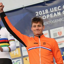 04-11-2018: Wielrennen: EK veldrijden: Rosmalen: Mathieu van der Poel wint het Europees Kampioenschap veldrijden voor Wout van Aert en Laurens Sweeck
