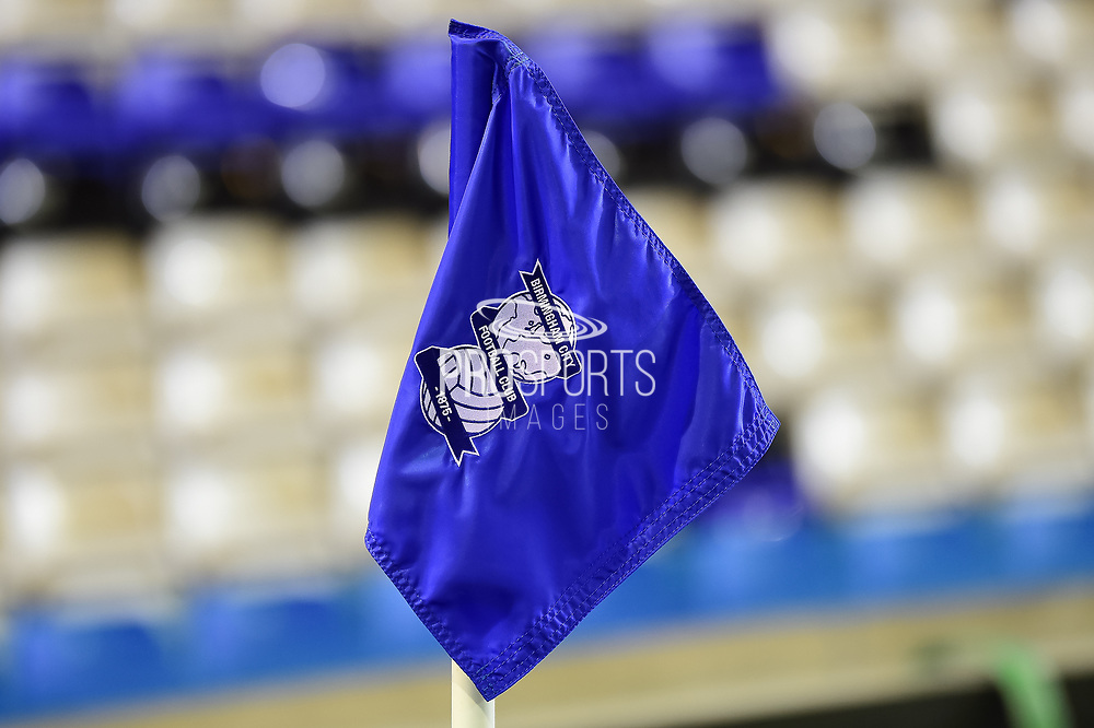 Birmingham City corner flag  Club crest detail during the EFL Sky Bet Championship match between Birmingham City and Brentford at St Andrews, Birmingham, England on 1 November 2017. Photo by Dennis Goodwin.