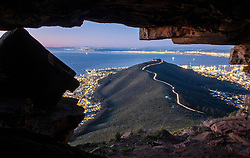Cape Town - 180818 - Pictured is the view from the Watchman's cave on Lions Head. Picture: David Ritchie/African News Agency/ANA
