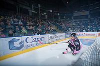 KELOWNA, CANADA - OCTOBER 20: Riley Stadel #3 of the Kelowna Rockets skates on the ice against the  Brandon Wheat Kings at the Kelowna Rockets on October 20, 2012 at Prospera Place in Kelowna, British Columbia, Canada (Photo by Marissa Baecker/Shoot the Breeze) *** Local Caption ***