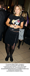TV presenter PENNY SMITH  at a party in London on 10th December 2003.PPM 35