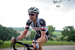 Sabrina Stultiens escapes at Boels Rental Ladies Tour Stage 5 a 141.8 km road race from Stamproy to Vaals, Netherlands on September 2, 2017. (Photo by Sean Robinson/Velofocus)