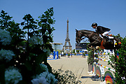 Paris, France : Jerome Guery riding Kel'Star du Vingt Ponts during the Longines Paris Eiffel Jumping 2018, on July 5th to 7th, 2018 at the Champ de Mars in Paris, France - Photo Christophe Bricot / ProSportsImages / DPPI