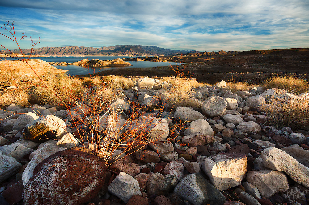 Just outside of Las Vegas is the Lake Mead National Recreation Area. An enormous canyon where the Colorado River turns into a reservoir by the Hoover Dam blocking it's path. The rocky and rugged terrain of the Nevada desert is typically a dry and inhabitable place, making the dam necessary for a city like Las Vegas to exist.