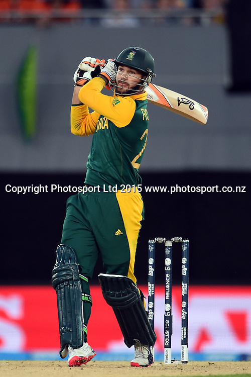 South African batsman Rilee Rossouw in action during the ICC Cricket World Cup match between Pakistan and South Africa at Eden Park in Auckland, New Zealand. Saturday 07 March 2015. Copyright Photo: Raghavan Venugopal / www.photosport.co.nz