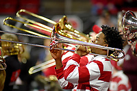 Pep band plays prior to the start of the men's basketball game against UVA in PNC Arena.