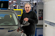 CASSINO, ITALY - NOVEMBER 24: Sergio Marchionne, chief executive officer of Fiat Chrysler Automobiles NV with the new Stelvio, during the visit to the factory Alfa Romeo in Piedimonte San Germano on November 24, 2016 in Cassino, Italy.