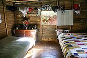 Cuba, Rio Duaba near Baracoa and El Yunque mountain the Alejandro de Humboldt national park Interior of a home