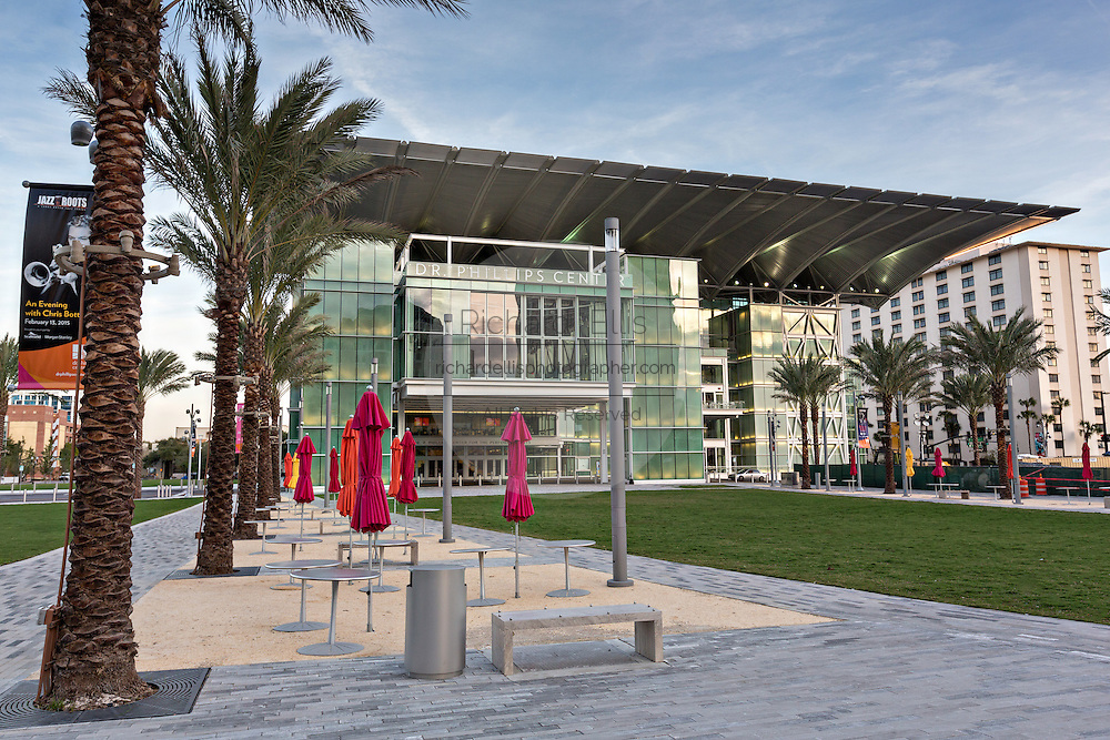 Dr. Phillips Center for the Performing Arts in downtown Orlando, Florida.