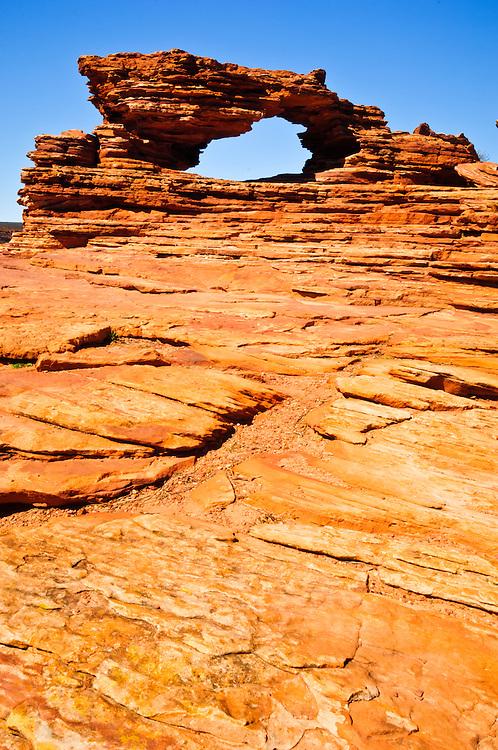 Stock photograph of Nature's Window in Kalbarri National Park, Western Australia