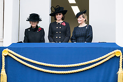 © Licensed to London News Pictures. 12/11/2017. London, UK. PRINCESS ALEXANDRA, CATHERINE DUCHESS OF CAMBRIDGE and SOPHIE, COUNTESS OF WESSEX attend a Remembrance Day Ceremony at the Cenotaph war memorial in London, United Kingdom, on November 13, 2016 . Thousands of people honour the war dead by gathering at the iconic memorial to lay wreaths and observe two minutes silence. Photo credit: Ray Tang/LNP