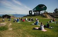 Mountain Yoga at Gunstock.  Karen Bobotas for the Laconia Daily Sun