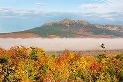 Fog and Mount Katahdin in Maine's Katahdin Woods and Waters National Monument.