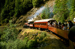 California: Redwood Country.  .riding the Skunk Train..Photo copyright Lee Foster, 510/549-2202, lee@fostertravel.com, www.fostertravel.com..Photo #: caredw104