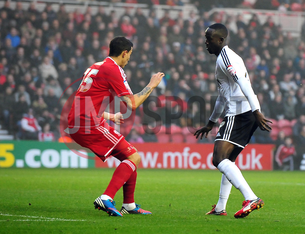 Bristol City's Albert Adomah scores - Photo mandatory by-line: Joe Meredith/JMP  - Tel: Mobile:07966 386802 24/11/2012 - Middlesbrough v Bristol City - SPORT - FOOTBALL - Championship -  Middlesbrough  - River Side Stadium