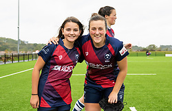 Clara Nielson of Bristol Bears Women with a mascot - Mandatory by-line: Paul Knight/JMP - 26/10/2019 - RUGBY - Shaftesbury Park - Bristol, England - Bristol Bears Women v Richmond Women - Tyrrells Premier 15s