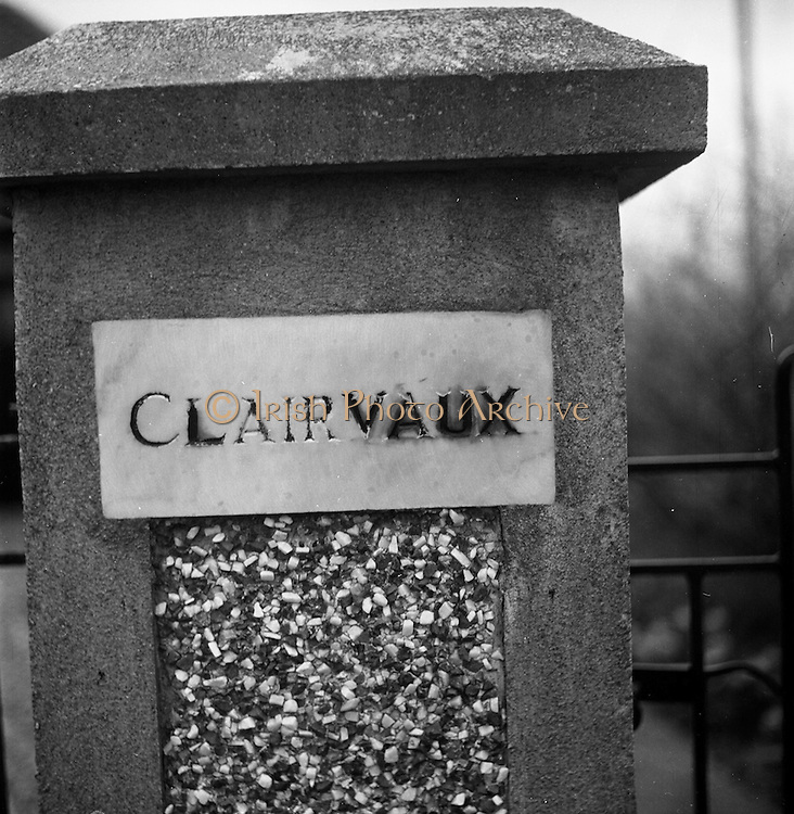 "13/03/1964<br /> 03/13/1964<br /> 13 March 1964<br /> ""Clairvaux"", Lismore, Co. Waterford, home of Miss Murphy."