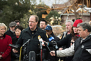 Garland Police Chief Mitch Bates speaks during a press conference in the neighborhood where homes were hit by a tornado two days earlier in Garland, Texas on December 28, 2015. (Cooper Neill for The New York Times)