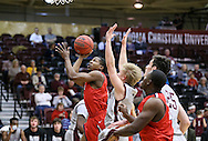 February 15, 2016: The Dallas Baptist University Patriots play against the Oklahoma Christian University Eagles in the Eagles Nest on the campus of Oklahoma Christian University.