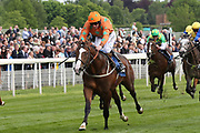I AM A DREAMER ridden by jockey P J McDonald and trained by Mark Johnston winning The Stratford Place Stud Breeds Group Winners EBFstallions.com Maiden Stakes over 6f (£20,000)  at the York Dante Meeting at York Racecourse, York, United Kingdom on 17 May 2018. Picture by Mick Atkins.