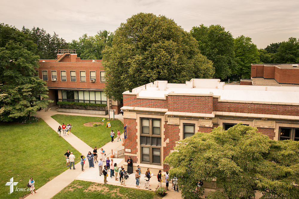 Students and parents congregate for lunch at The Commons at Concordia College New York on Saturday, July 19, 2014, in Bronxville, NY. LCMS Communications/Erik M. Lunsford