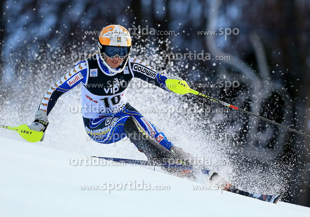 04.01.2013, Crveni Spust, Zagreb, AUT, FIS Ski Alpin Weltcup, Slalom, Damen, 1. Lauf, im Bild Frida Hansdotter (SWE) // Frida Hansdotter of Sweden in action during 1st Run of the ladies Slalom of the FIS ski alpine world cup at Crveni Spust course in Zagreb, Croatia on 2013/01/04. EXPA Pictures © 2013, PhotoCredit: EXPA/ Pixsell/ Jurica Galoic..***** ATTENTION - for AUT, SLO, SUI, ITA, FRA only *****