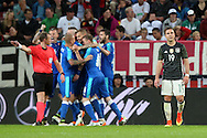 Slovakia celebrate scoring their second goal during the International Friendly match at WWK Arena, Augsburg<br /> Picture by EXPA Pictures/Focus Images Ltd 07814482222<br /> 27/05/2016<br /> ***UK &amp; IRELAND ONLY***<br /> EXPA-EIB-160529-0133.jpg