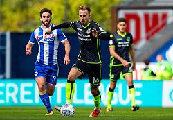Chris Lines of Bristol Rovers takes on Will Grigg of Wigan Athletic - Mandatory by-line: Matt McNulty/JMP - 16/09/2017 - FOOTBALL - DW Stadium - Wigan, England - Wigan Athletic v Bristol Rovers - Sky Bet League One