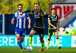 Chris Lines of Bristol Rovers takes on Will Grigg of Wigan Athletic - Mandatory by-line: Matt McNulty/JMP - 16/09/2017 - FOOTBALL - DW Stadium - Wigan, England - Wigan Athletic v Bristol Rovers - Sky Bet League One