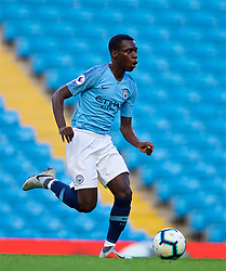 MANCHESTER, ENGLAND - Friday, August 24, 2018: Manchester City's Claudio Gomes during the Under-23 FA Premier League 2 Division 1 match between Manchester City FC and Liverpool FC at the City of Manchester Stadium. (Pic by David Rawcliffe/Propaganda)