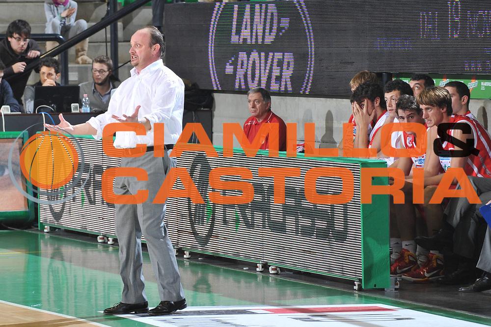 DESCRIZIONE : Treviso Lega A 2010-11 Benetton Treviso Banca Tercas Teramo<br /> GIOCATORE : Andrea Capobianco Coach<br /> SQUADRA : Banca Tercas Teramo<br /> EVENTO : Campionato Lega A 2010-2011 <br /> GARA : Benetton Treviso Banca Tercas Teramo<br /> DATA : 20/11/2010<br /> CATEGORIA : Delusione <br /> SPORT : Pallacanestro <br /> AUTORE : Agenzia Ciamillo-Castoria/M.Gregolin<br /> Galleria : Lega Basket A 2010-2011 <br /> Fotonotizia : Treviso Lega A 2010-11 Benetton Treviso Banca Tercas Teramo<br /> Predefinita :