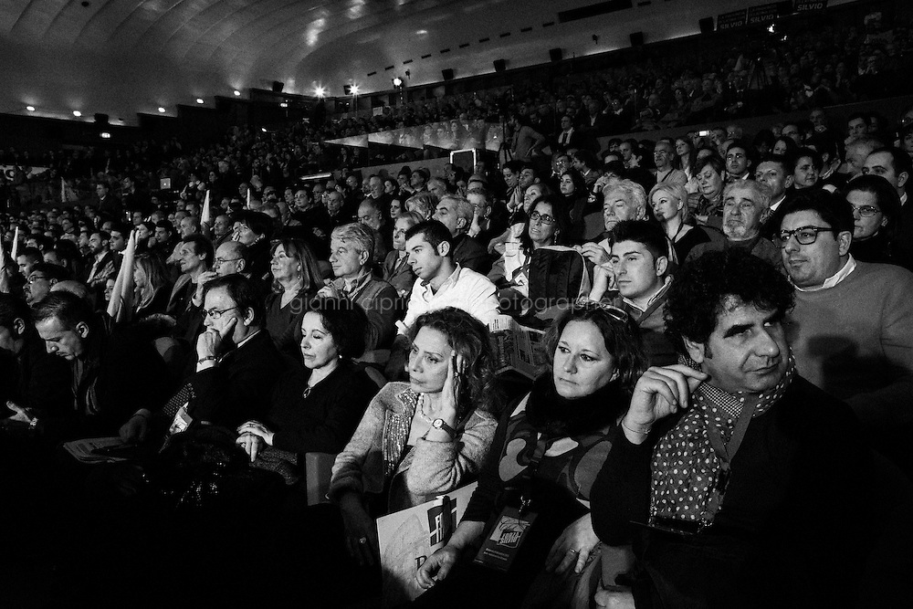 """ROME, ITALY - 8 December 2013: Convention dei """"Club Forza Silvio"""" all'Auditorium della Conciliazione a Roma l'8 dicembre 2013."""