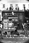 Free South Africa stall, Notting Hill Carnival, London, 1989