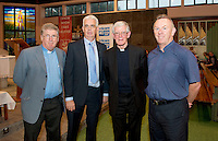 Fr Sean McDonough, a well known ecologist,, Fintan Maher Trocaire,(Head of Community Engagement and Outreach) Bishop Drennan and  Fr Tom Brady in St Oliver Plunkett's parish Renmore for the Diocese of Galaway /Trocaire Mass celebrating 40 years of Trocaire's work . Photo:Andrew Downes photography.