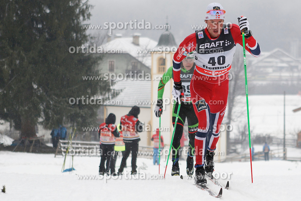 04.01.2014, Langlaufstadion, Lago di Tesero, ITA, FIS Langlauf Weltcup, Tour de Ski, Langlauf Herren, Individual Start 10Km, im Bild Jespersen Chris (NOR) // during the Men 10 km Cross Country of the Tour de Ski 2014 of FIS Cross Country World Cup at the Cross Country Stadium, Lago di Tesero, Italy on 2014/01/04. EXPA Pictures  ©  2014, PhotoCredit: EXPA/ Federico Modica