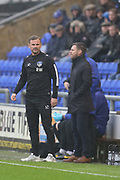 Richie Wellens Oldham Manager during the EFL Sky Bet League 1 match between Oldham Athletic and Scunthorpe United at Boundary Park, Oldham, England on 28 October 2017. Photo by George Franks.