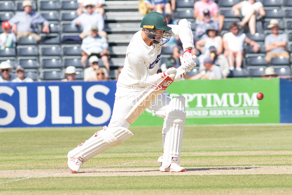 Callum Parkinson batting during the Specsavers County Champ Div 2 match between Gloucestershire County Cricket Club and Leicestershire County Cricket Club at the Cheltenham College Ground, Cheltenham, United Kingdom on 15 July 2019.