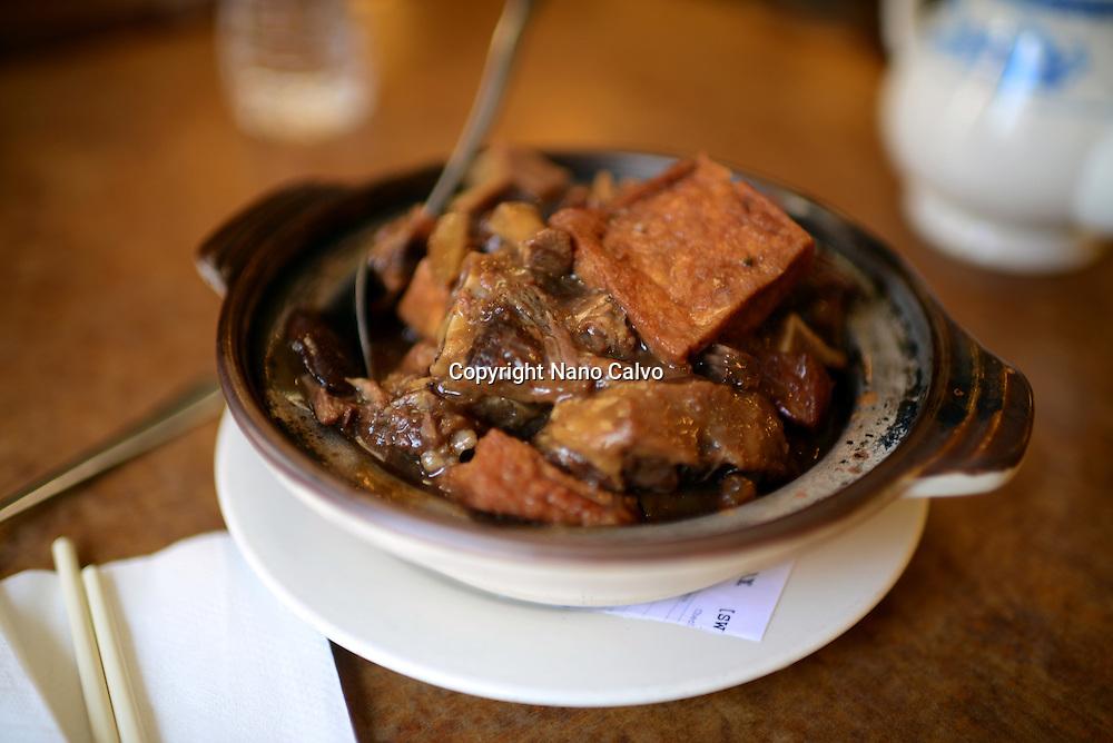 Ox tail stew at Hong Kong Clay Pot Restaurant in Chinatown, San Francisco