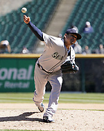 CHICAGO - APRIL 25:  Felix Hernandez #34 of the Seattle Mariners pitches against the Chicago White Sox on April 25, 2018 at Guaranteed Rate Field in Chicago, Illinois.  (Photo by Ron Vesely)   Subject:   Felix Hernandez