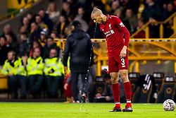 Fabinho of Liverpool spits water - Mandatory by-line: Robbie Stephenson/JMP - 07/01/2019 - FOOTBALL - Molineux - Wolverhampton, England - Wolverhampton Wanderers v Liverpool - Emirates FA Cup third round proper