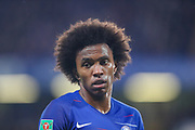 Chelsea midfielder Willian (22) during the EFL Cup 4th round match between Chelsea and Derby County at Stamford Bridge, London, England on 31 October 2018.