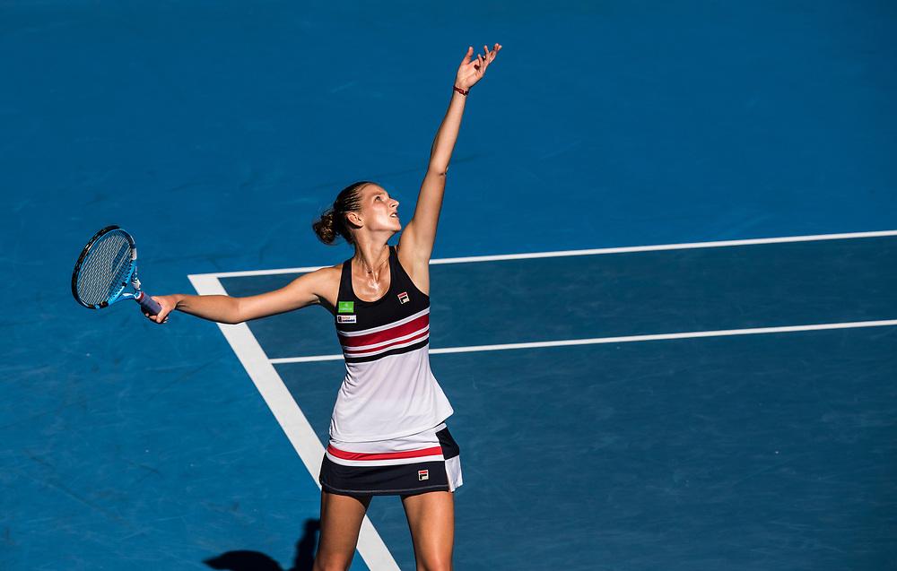 Karolina Pliskova of the Czech Republic on day ten of the 2018 Australian Open in Melbourne Australia on Wednesday January 24, 2018.<br /> (Ben Solomon/Tennis Australia)