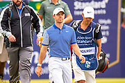 Rory McIlroy (NIR) walks from the first tee during the final round of the Aberdeen Standard Investments Scottish Open at The Renaissance Club, North Berwick, Scotland on 14 July 2019.